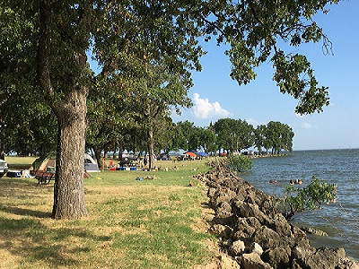 Tent Camping South Point Lake Tawakoni Wind Point Park
